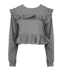 'Cara' Gingham Frill Top