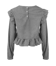 Load image into Gallery viewer, 'Cara' Gingham Frill Top