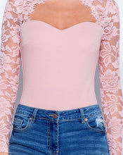 Load image into Gallery viewer, 'Jennifer' Baby Pink Lace Bodysuit