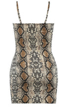 Load image into Gallery viewer, 'Samira' Snake Print Cami Dress