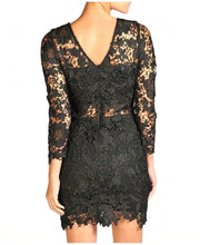 Load image into Gallery viewer, 'Lacey' Black Lace Insert Dress