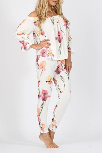 'Clarissa' Floral Off Shoulder Two Piece