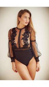 'Tiffany' Sheer Lace Bodysuit