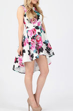 Load image into Gallery viewer, 'Anna' Dip Hem Floral Skater Dress