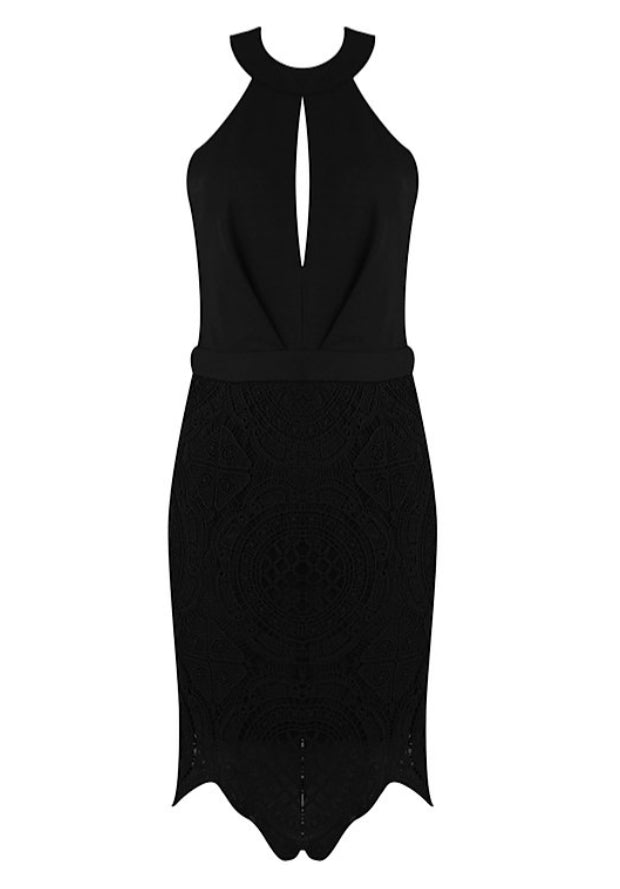 'Aimee' Lace Detail Bodycon Dress