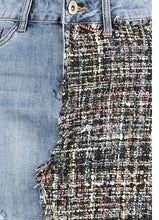 Load image into Gallery viewer, 'Tiana' Denim/Tweed Skirt