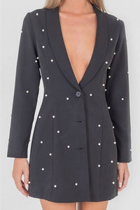 'Kiera' Pearl Blazer Dress
