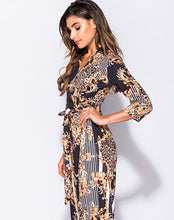 Load image into Gallery viewer, 'Alesha' Leopard Print Tie Jumpsuit