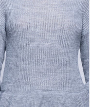 Load image into Gallery viewer, 'Molly' Grey Frilled Jumper