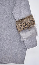 Load image into Gallery viewer, 'Alexandra' Faux Fur Leopard Jumper