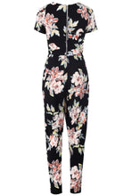 Load image into Gallery viewer, 'Natasha' Floral Short Sleeved Jumpsuit