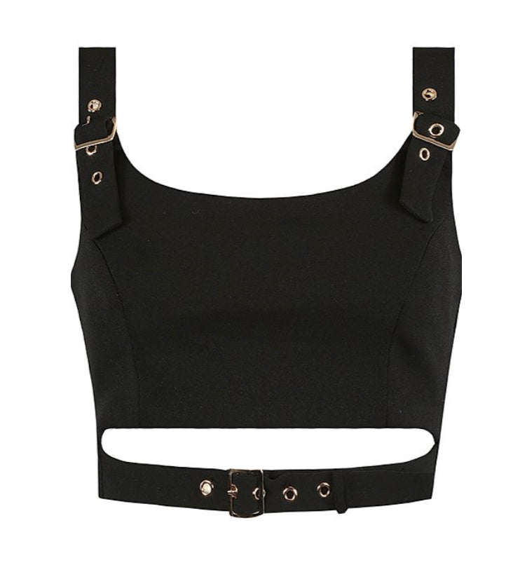 'Kiki' Buckle Crop