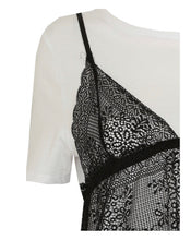 Load image into Gallery viewer, 'Lisa' Lace Insert Tee