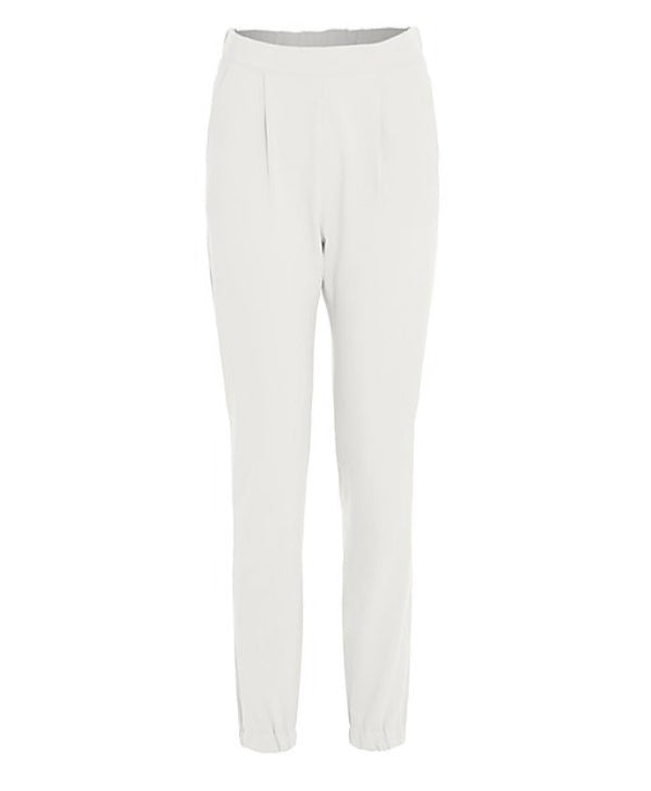 'Naomi' White Cuff Ankle Trousers