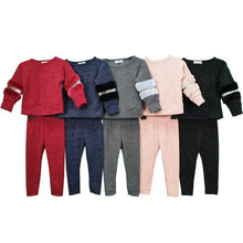 Load image into Gallery viewer, 'Kallie' Pink Loungewear Set With Faux Fur Detailing KIDS