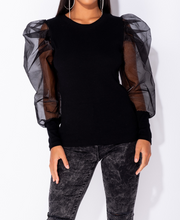 Load image into Gallery viewer, 'Lilly' Sheer Sleeve Top