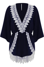 Load image into Gallery viewer, 'Fearne' Lace Short Sleeve Playsuit