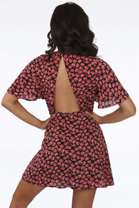'Mimi' Floral Open Back Dress