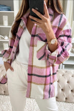 Load image into Gallery viewer, 'Charley' Pink Checked Shacket