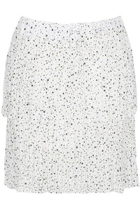 'Jessie' White Frill Detailed Skirt
