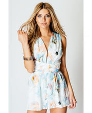 Load image into Gallery viewer, 'Charlotte' Pastel Tye Waist Playsuit