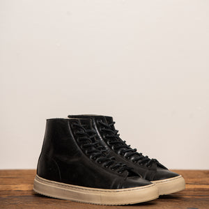 Unmarked Shearling-Lined Hi-Top Sneaker Black