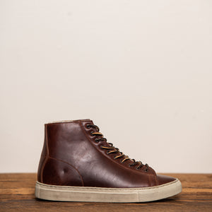 Unmarked Shearling-Lined Hi-Top Sneaker Brown