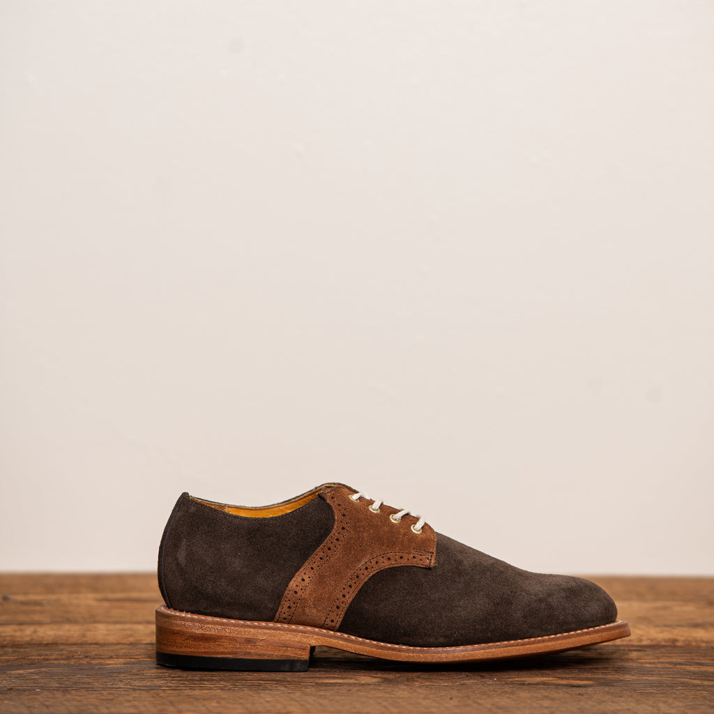 Brown 2-tone Suede Saddle