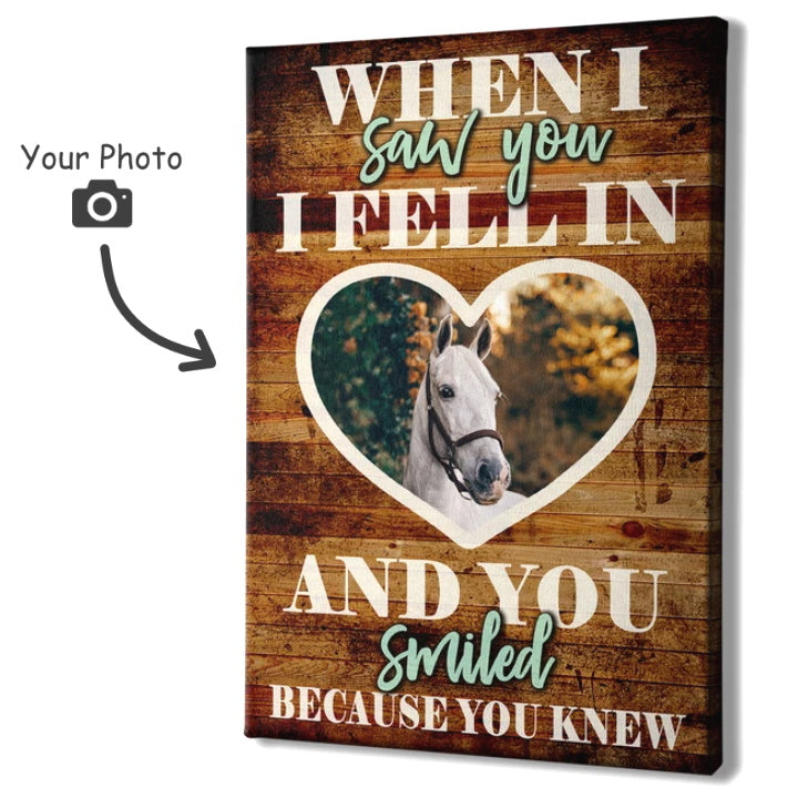 When I Saw You, I Fell in Love - Personalized Wall Art Canvas