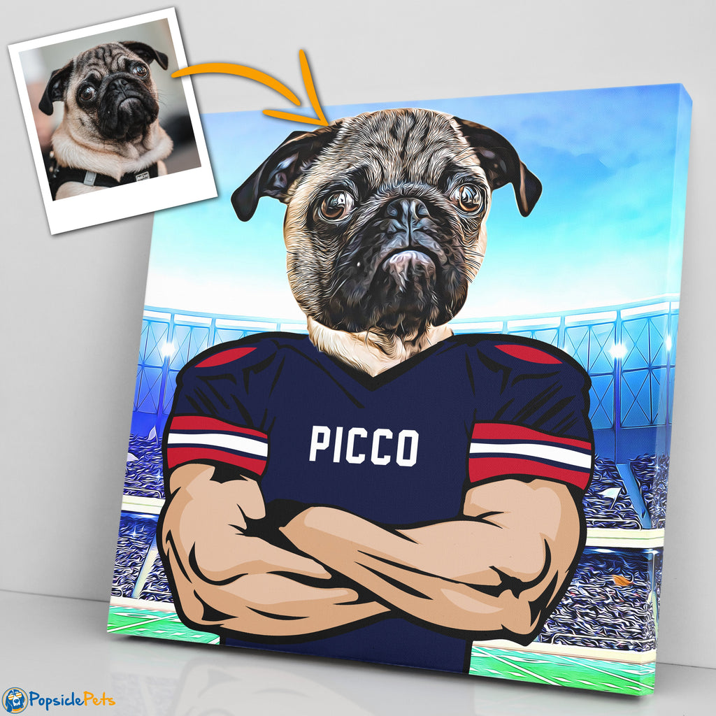 houston texans football custom pet canvas art