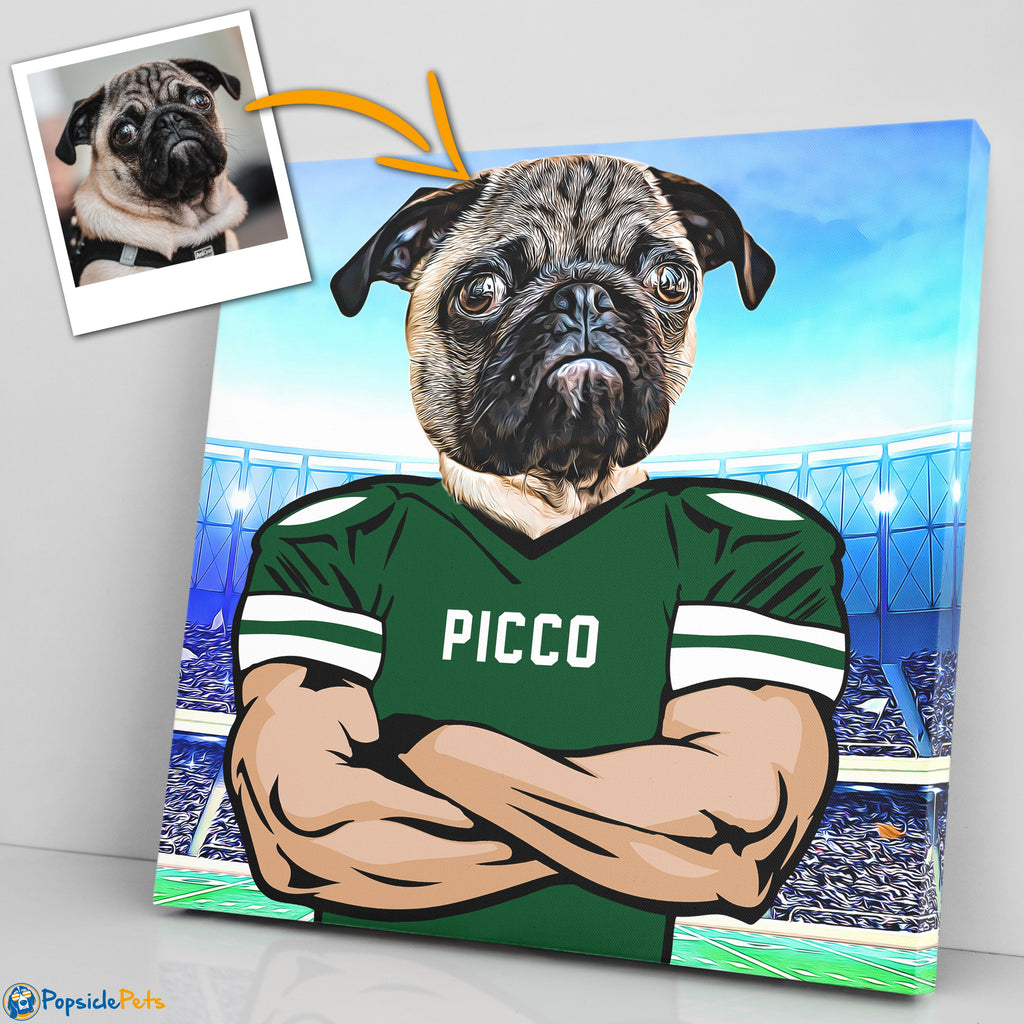 new york jets football custom pet canvas art