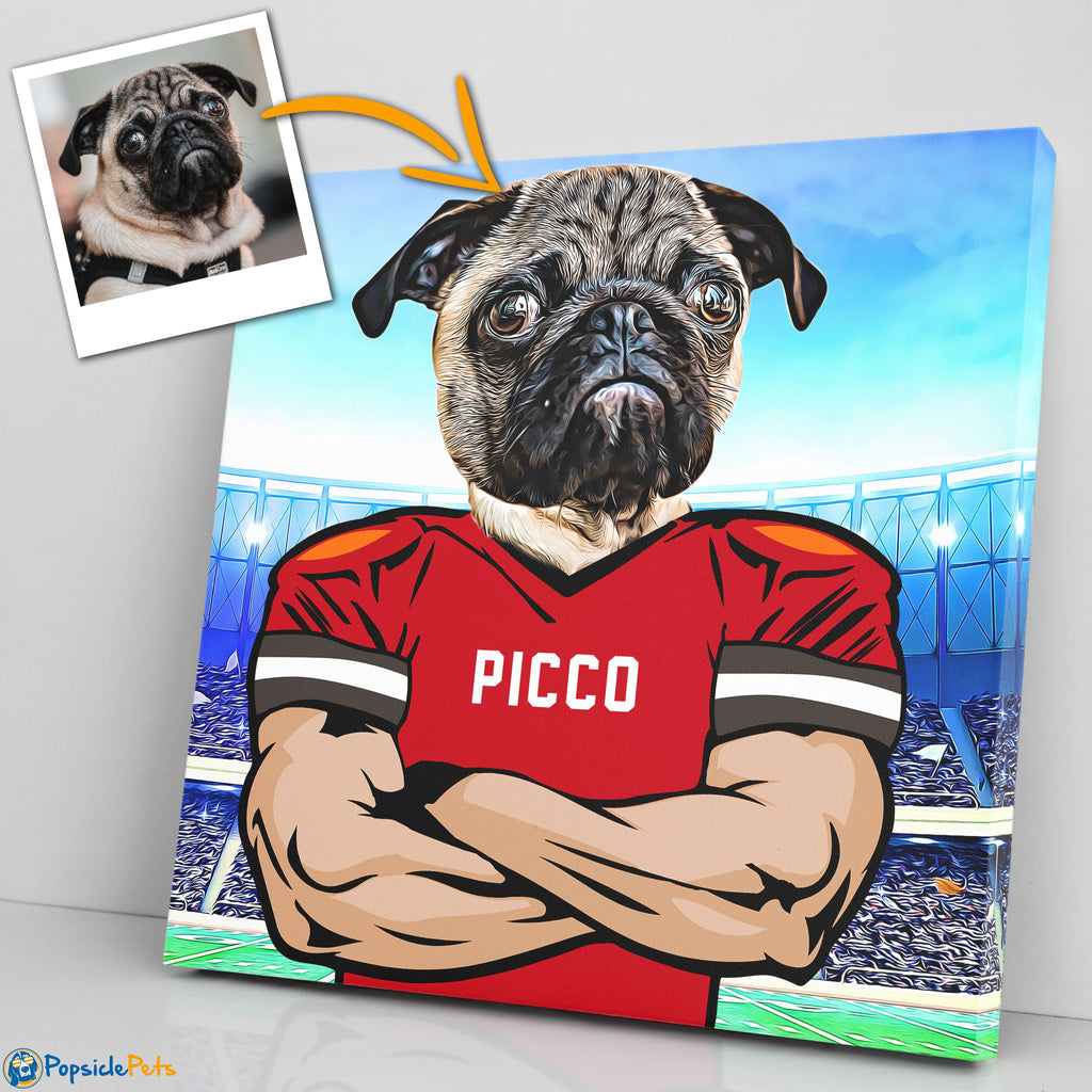 Tamba Bay Buccaneers football custom pet canvas art