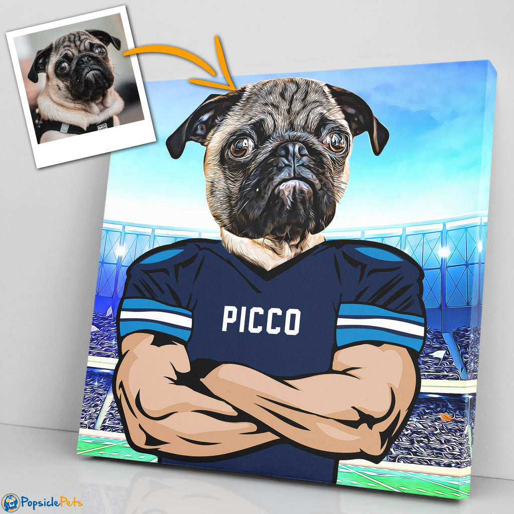 Tennessee Titans football custom pet canvas art