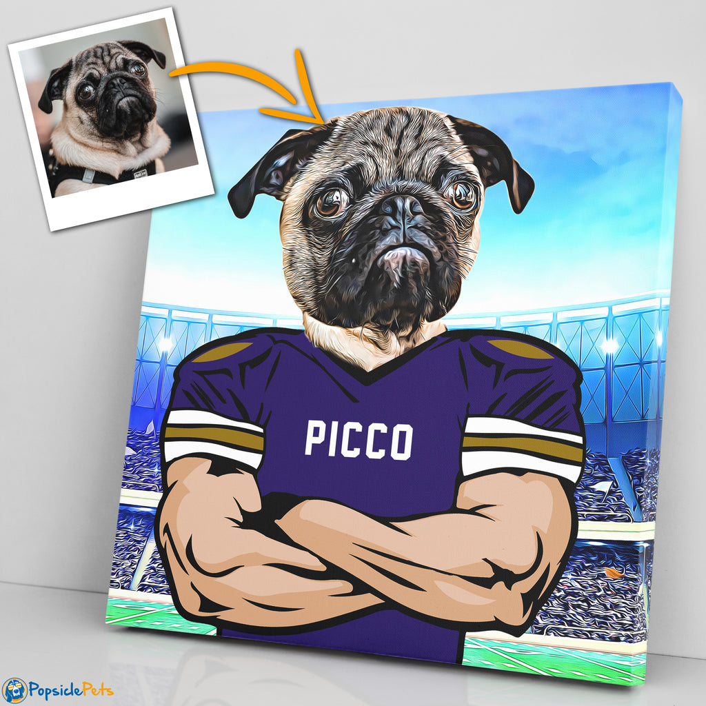baltimore ravens football custom pet art canvas