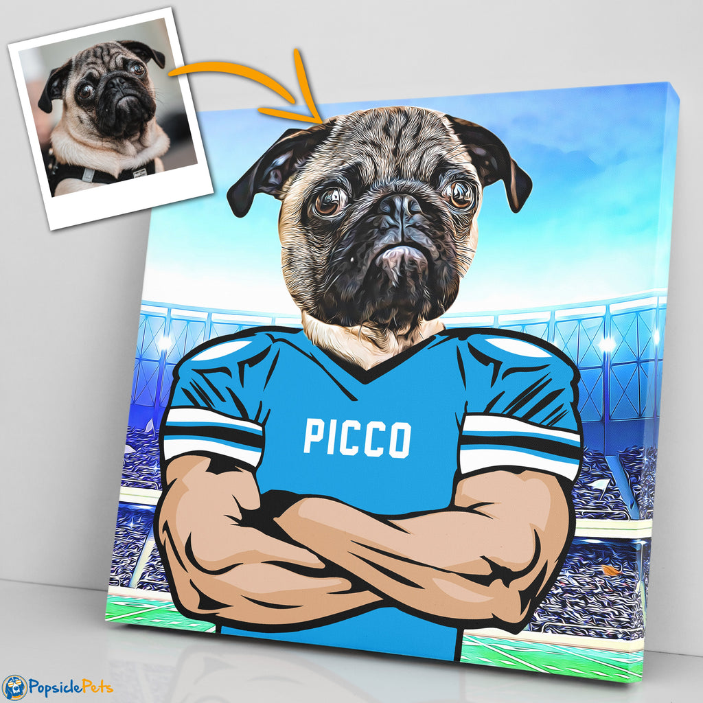 carolina panthers football custom pet art canvas