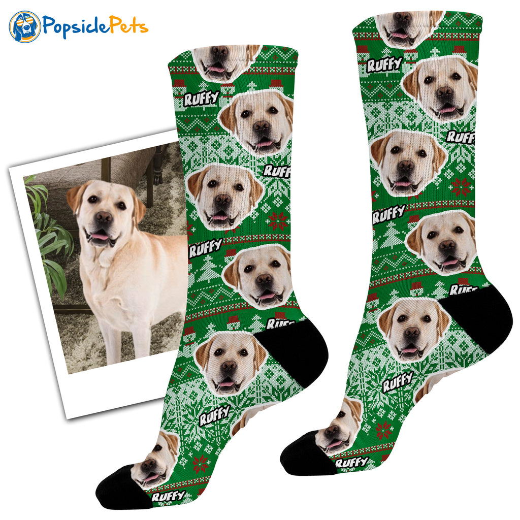 The Original Pet Face Ugly Christmas Socks