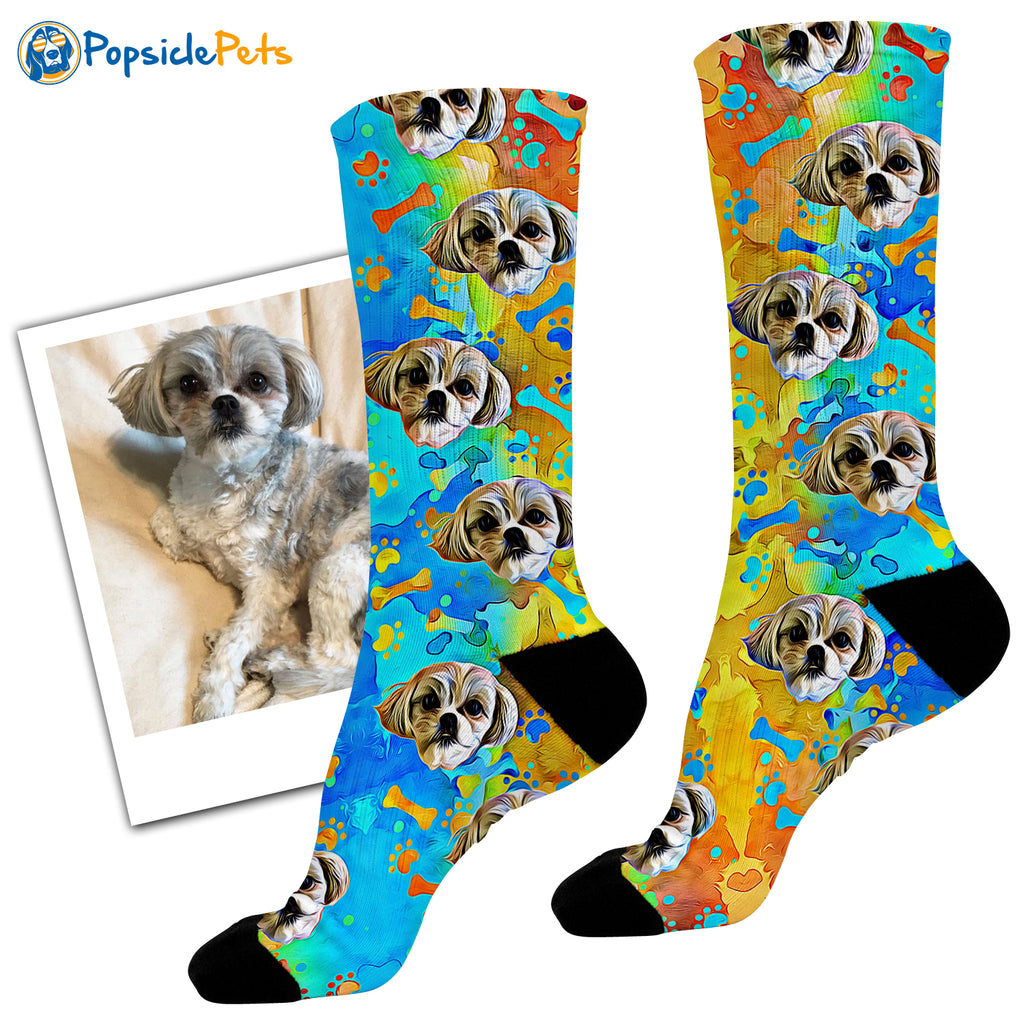 Custom Dog Socks - Popsicle Edition