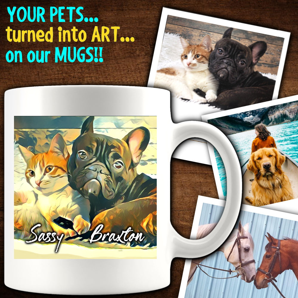 (CUSTOM) Pet Portrait Art Mugs