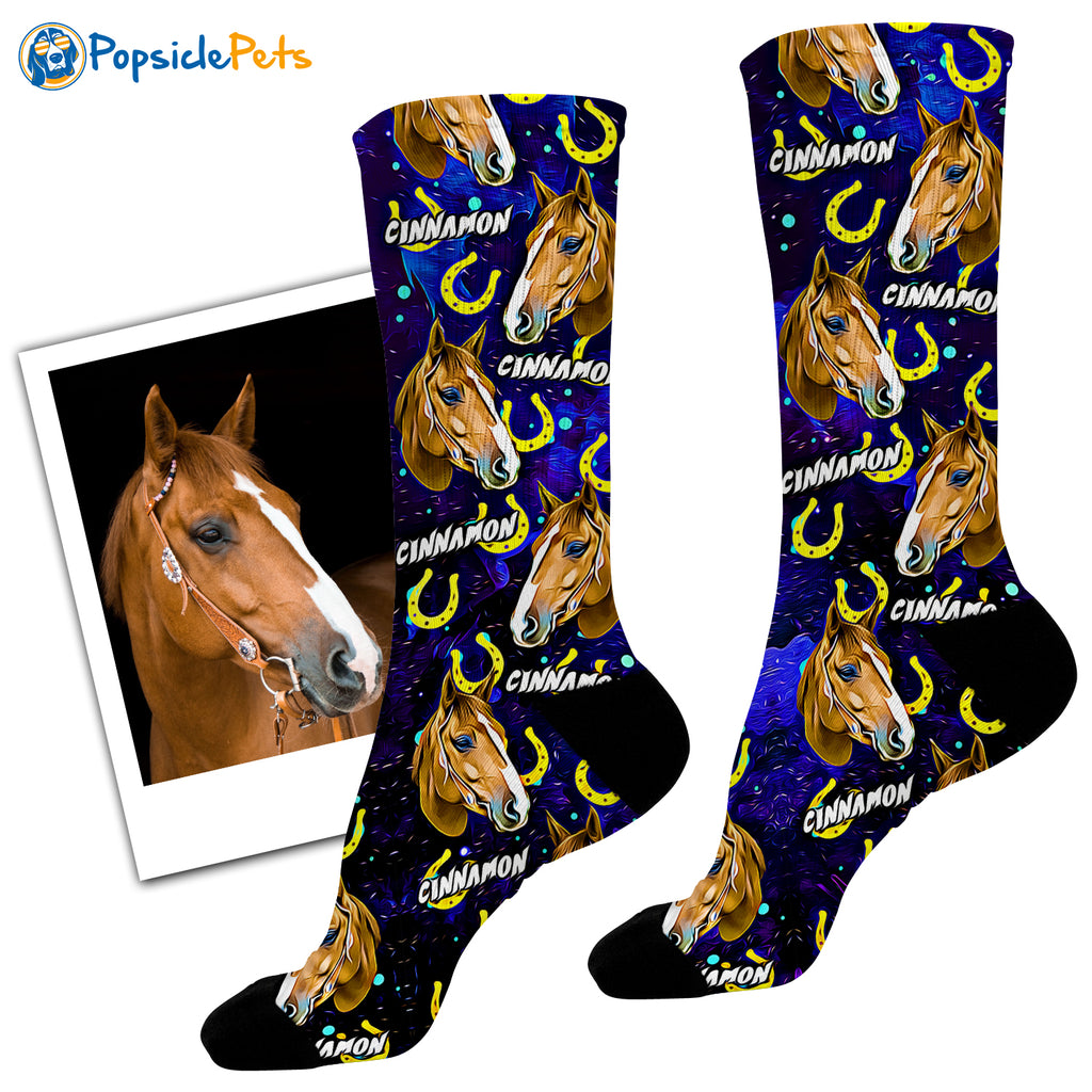 Custom Horse Socks - Popsicle Edition