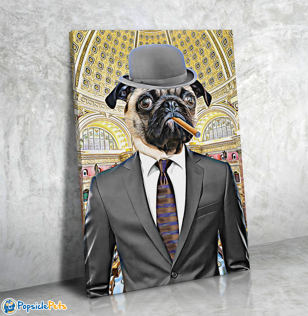 The CEO - Custom Pet Art Canvas