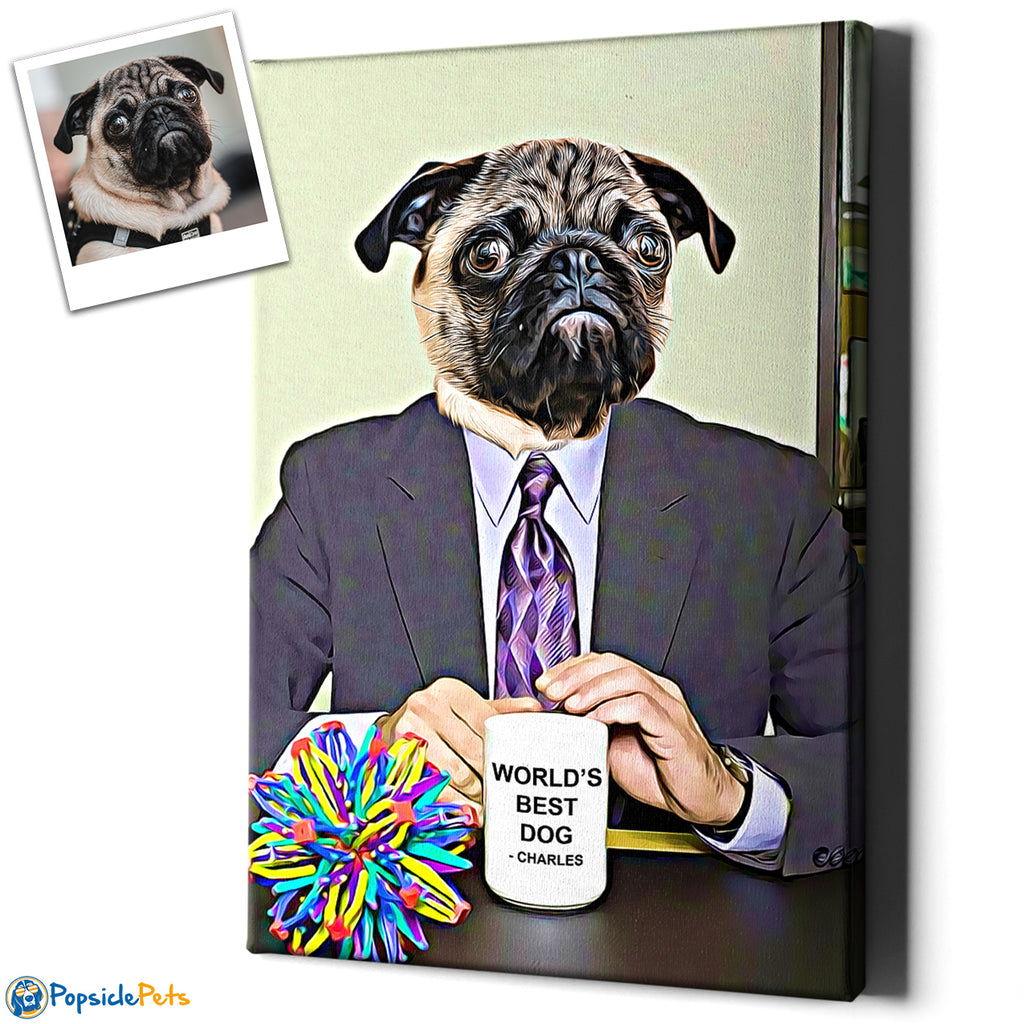 Michael Scott - Custom Pet Face Art Canvas
