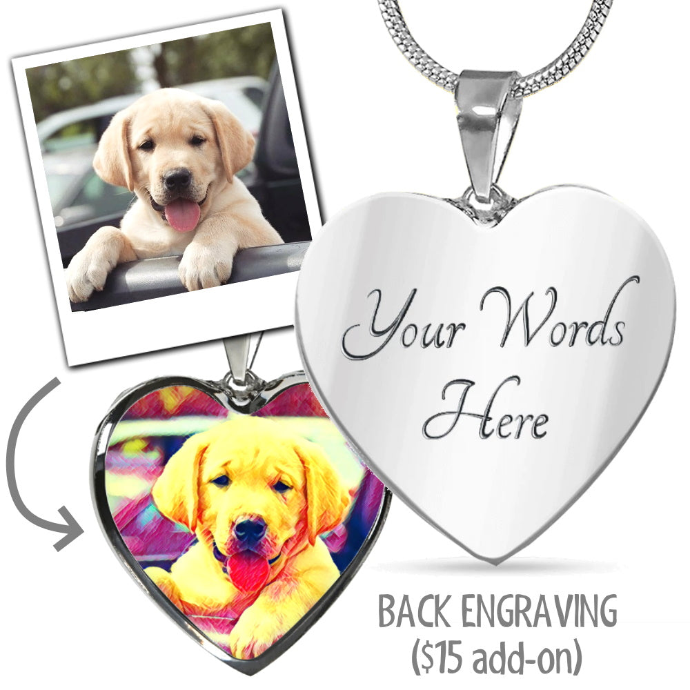 Custom Pet Art Necklace (ANY ANIMALS!)