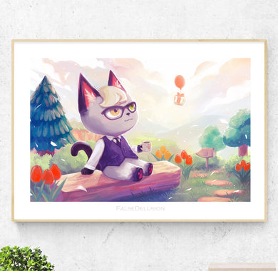 Animal Crossing Raymond Poster