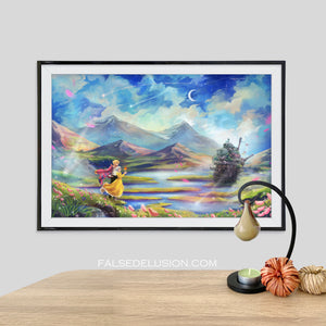 Ghibli Howls Moving Castle poster