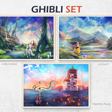 Load image into Gallery viewer, Ghibli Howls Moving Castle poster