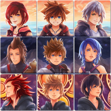 Kingdom Hearts square prints