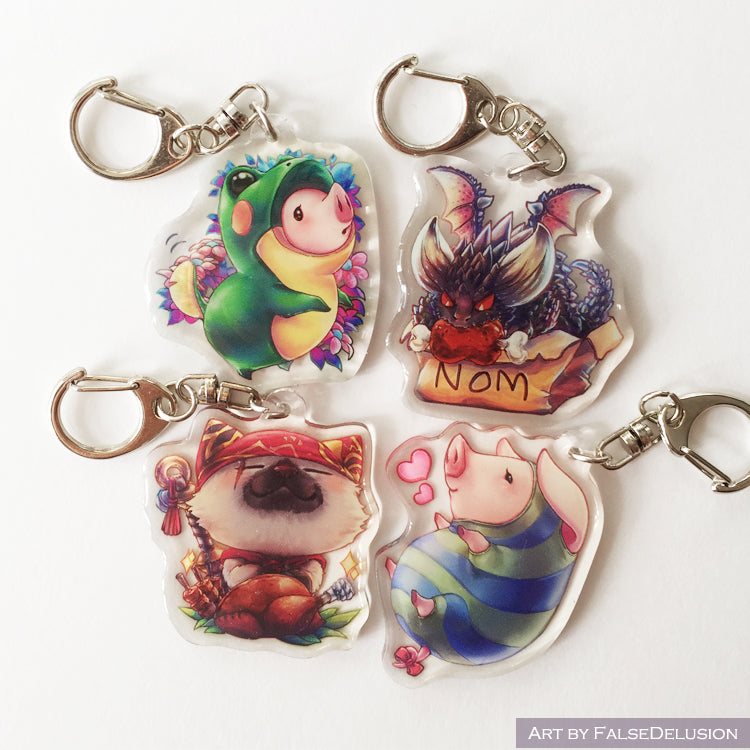 Monster Hunter keychains