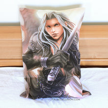 Load image into Gallery viewer, FF7 Sephiroth Pillowcase -MUST BE PURCHASED BY ITSELF
