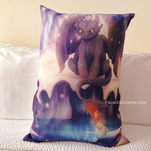 Load image into Gallery viewer, Toothless Pillowcase -MUST BE PURCHASED BY ITSELF