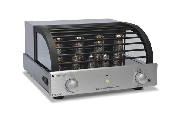 PrimaLuna EVO 200 Tube/Valve Integrated Amplifier - Evolution Front Iso With Cage - Douglas HiFi
